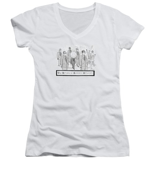 The Return Of Guarded Optimism Women's V-Neck