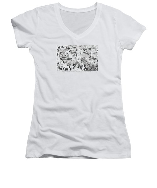 The Rightist Opposition Forms A United Front Women's V-Neck
