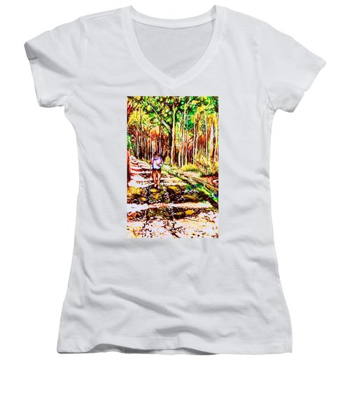 The Road Not Taken Women's V-Neck