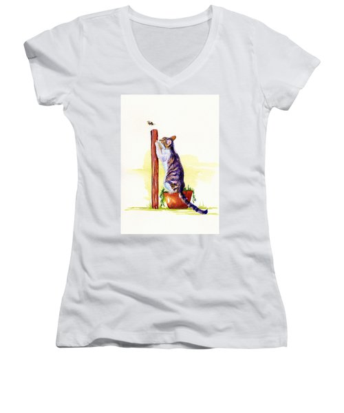 The Scratching Post Women's V-Neck T-Shirt