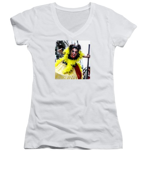 Women's V-Neck featuring the photograph The Scream Crusher by Stwayne Keubrick