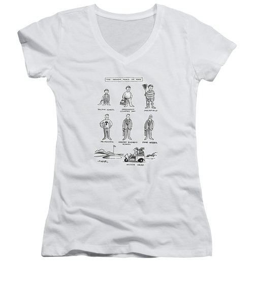 The Seven Ages Of Man Women's V-Neck (Athletic Fit)