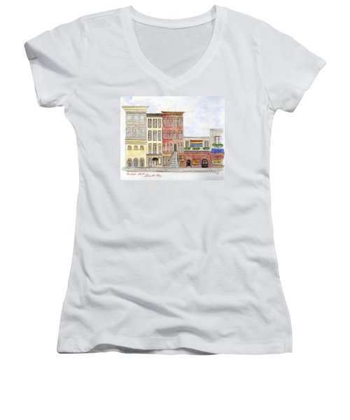 The Stonewall Inn Women's V-Neck (Athletic Fit)