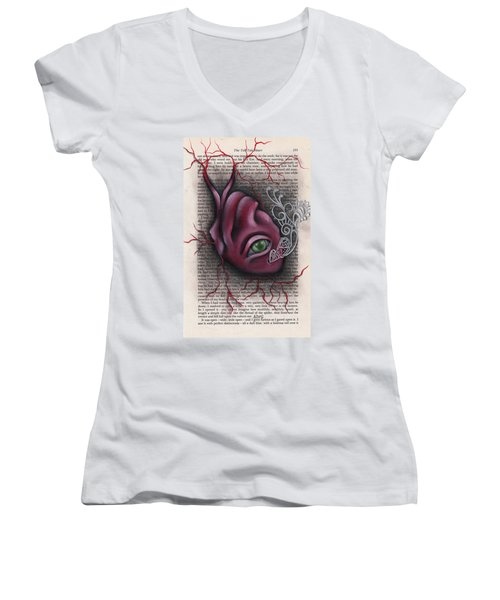The Tell Tale Heart Women's V-Neck T-Shirt