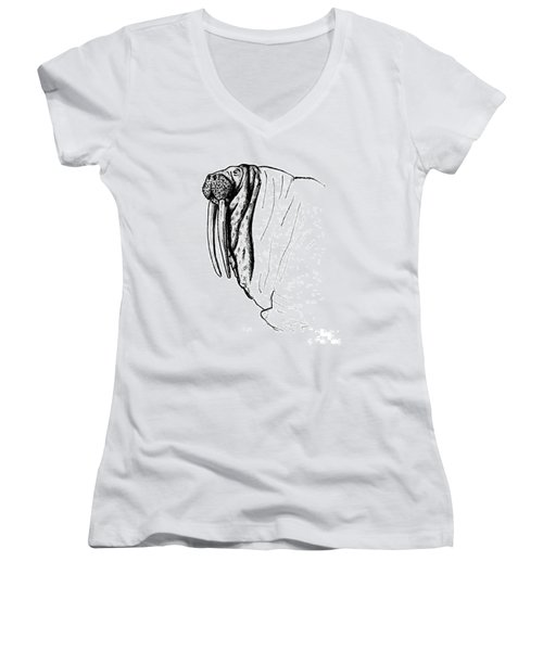 The Time Has Come The Walrus Said Women's V-Neck