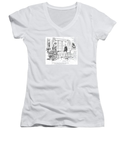 The 'times' Printed Owen's Letter To The Editor Women's V-Neck
