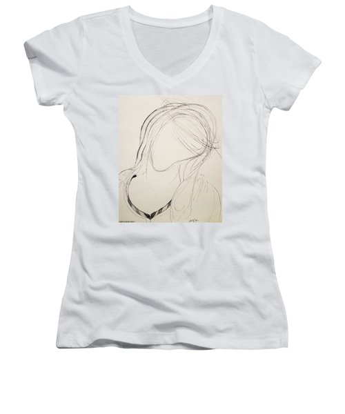 The Virgin Mary 4 Women's V-Neck