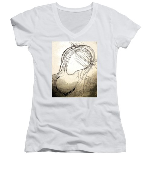 The Virgin Mary V Women's V-Neck