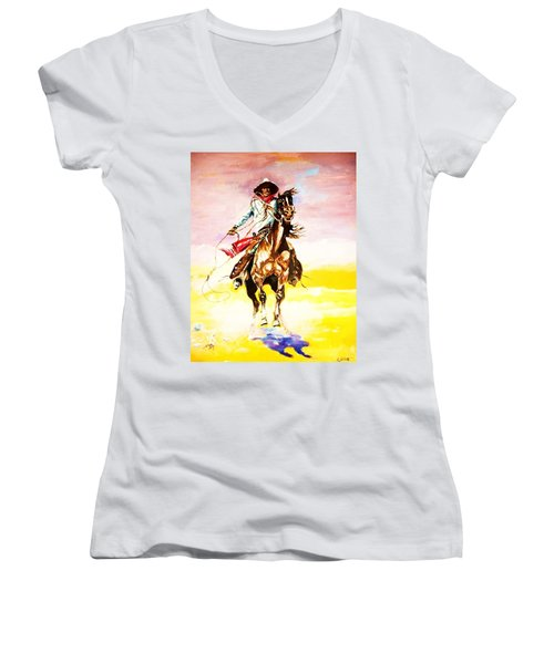 The Way Of The Vaquero Women's V-Neck (Athletic Fit)