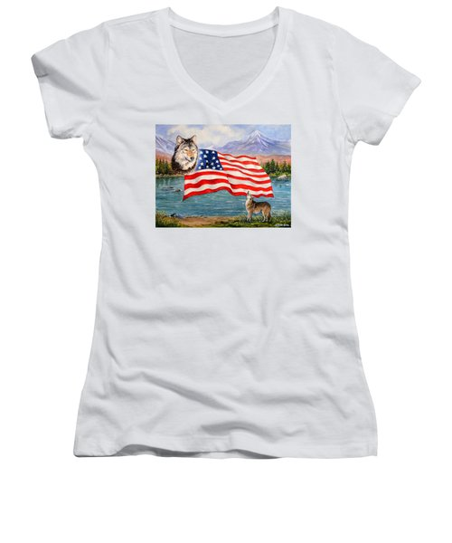 The Wildlife Freedom Collection 1 Women's V-Neck (Athletic Fit)