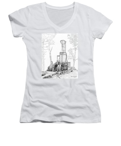 The Willamette Steam Donkey Women's V-Neck (Athletic Fit)