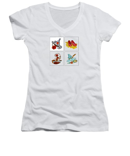 The Wonderful Wizard Of Oz Women's V-Neck