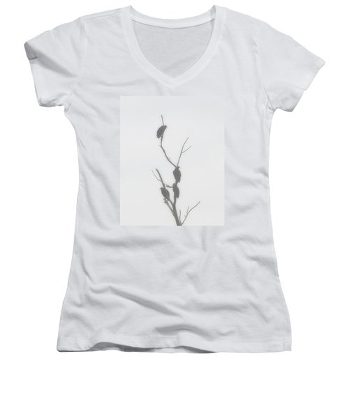 Their Waiting Four Black Vultures In Dead Tree Women's V-Neck T-Shirt (Junior Cut) by Chris Flees