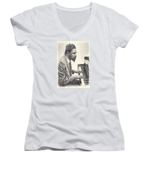 Thelonious Monk II Women's V-Neck (Athletic Fit)