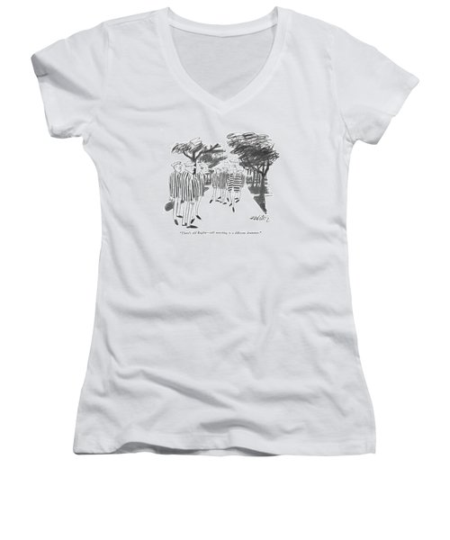 There's Old Begley - Still Marching Women's V-Neck