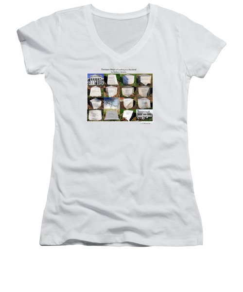 Thirteen Ways Of Looking At A Blackbird Women's V-Neck (Athletic Fit)