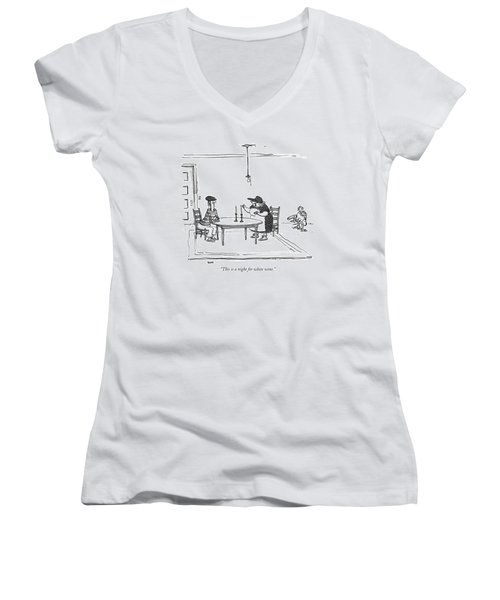 This Is A Night For White Wine Women's V-Neck