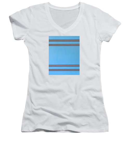 Thought Women's V-Neck T-Shirt (Junior Cut) by Thomas Gronowski