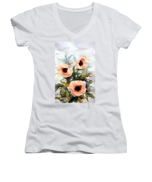 Three Poppies Women's V-Neck