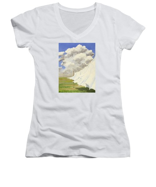 Three Sheets To The Wind Women's V-Neck T-Shirt (Junior Cut) by Jack Malloch