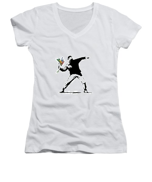 Throwing Love Women's V-Neck (Athletic Fit)