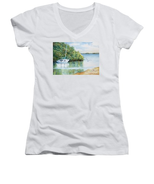 Tide's Out Women's V-Neck T-Shirt