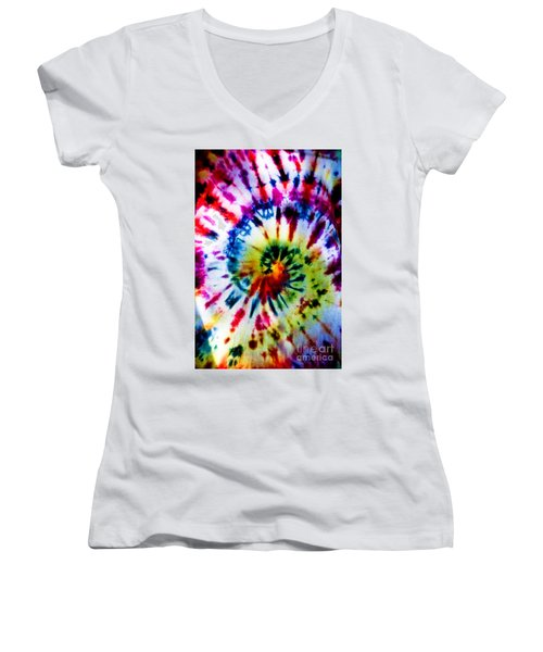 Tie Dyed T-shirt Women's V-Neck T-Shirt