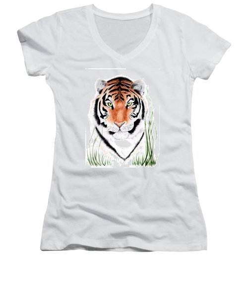 Tiger Tiger Where Women's V-Neck (Athletic Fit)