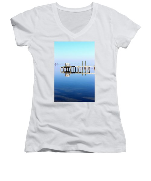 Time To Reflect Women's V-Neck T-Shirt (Junior Cut) by Faith Williams