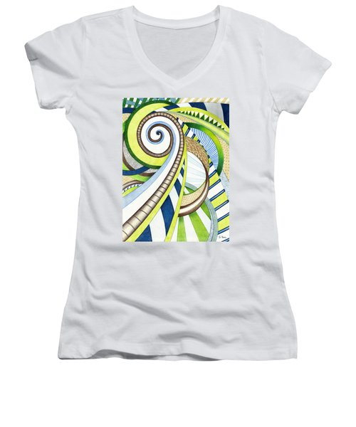 Time Travel Women's V-Neck (Athletic Fit)