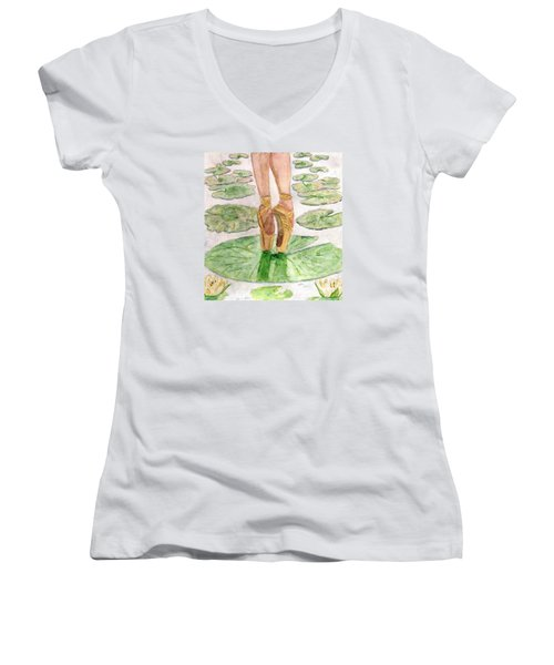To Dance Women's V-Neck T-Shirt (Junior Cut) by Angela Davies