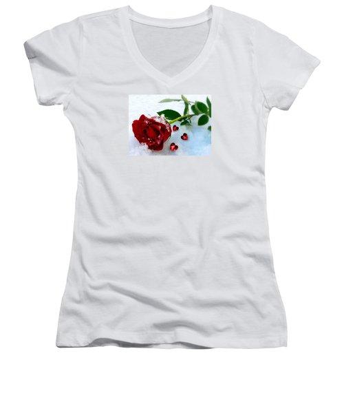 To Make You Feel My Love Women's V-Neck T-Shirt