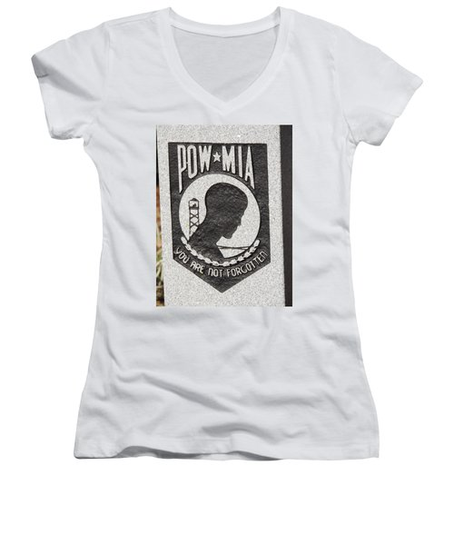 Women's V-Neck T-Shirt (Junior Cut) featuring the photograph To Our Heros by Aaron Martens