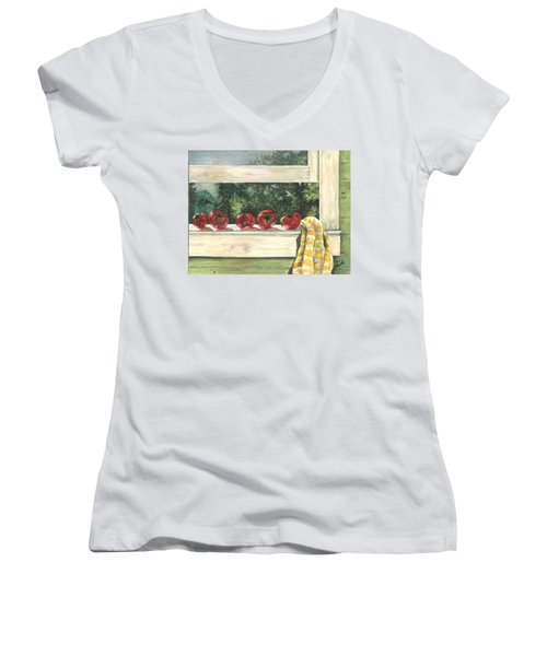 Tomatoes On The Sill Women's V-Neck (Athletic Fit)