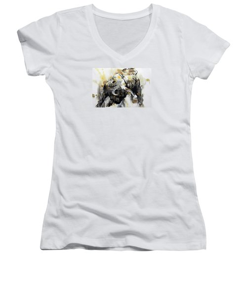 Toro 2 Women's V-Neck T-Shirt (Junior Cut) by J- J- Espinoza