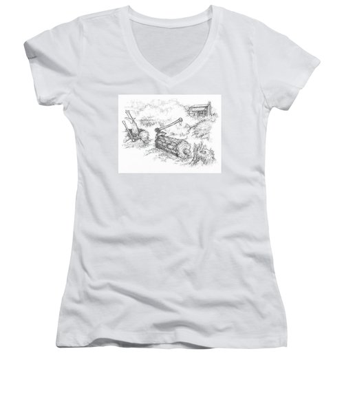 Trail Divides Women's V-Neck T-Shirt
