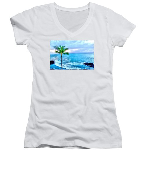 Tranquil Escape Women's V-Neck (Athletic Fit)