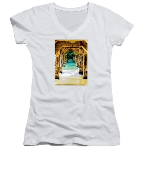 Tranquility Below Women's V-Neck T-Shirt