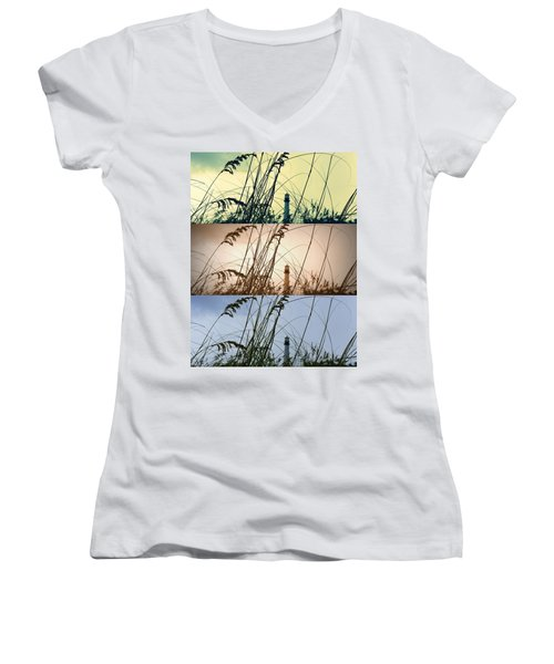 Transitions Women's V-Neck T-Shirt (Junior Cut) by Laurie Perry