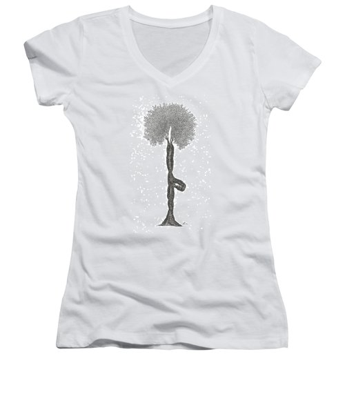 Tree Pose Women's V-Neck (Athletic Fit)