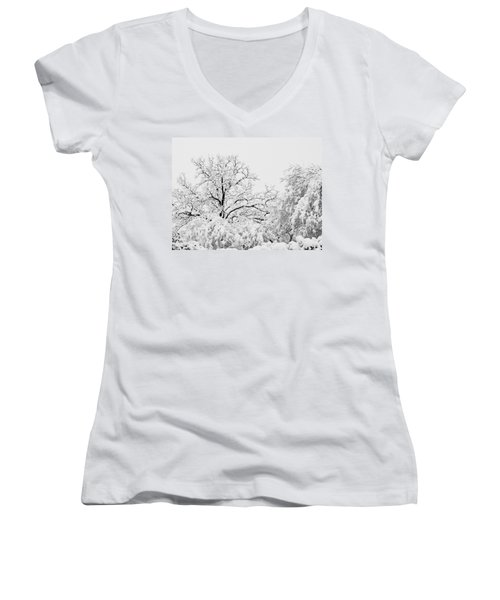 Tree Snow Women's V-Neck