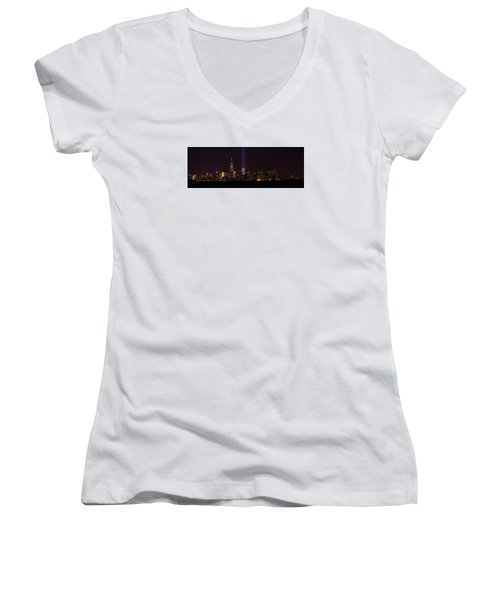 Tribute In Light 9.11 Women's V-Neck T-Shirt (Junior Cut) by Kenneth Cole