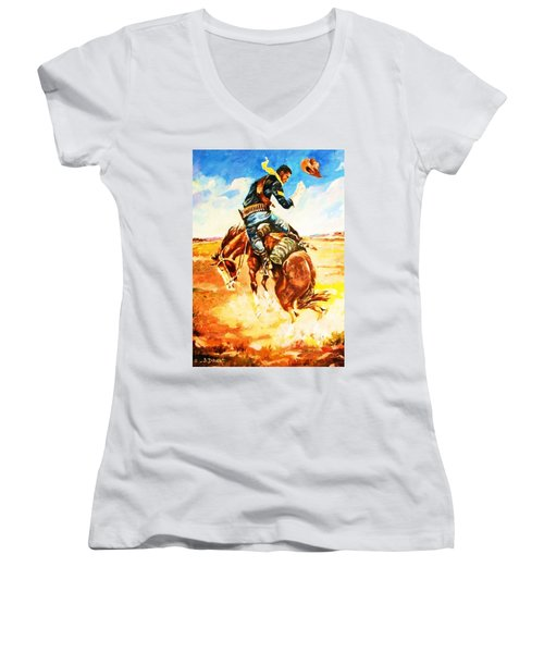 Trooper On A Skiddish Mount Women's V-Neck (Athletic Fit)