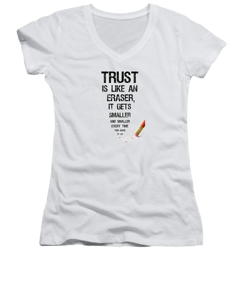 Trust Women's V-Neck T-Shirt (Junior Cut) by Jean Haynes