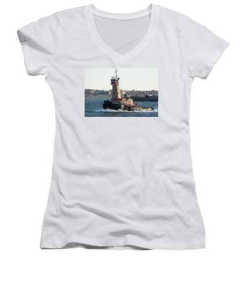 Tugboat Dace Reinauer Women's V-Neck T-Shirt (Junior Cut) by Kenneth Cole