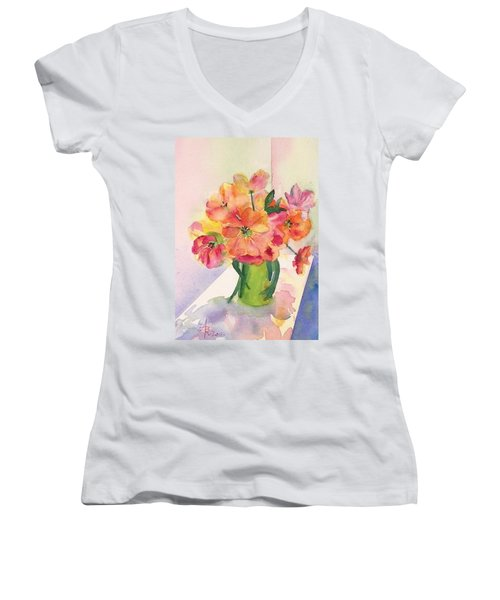 Tulips For Mother's Day Women's V-Neck (Athletic Fit)