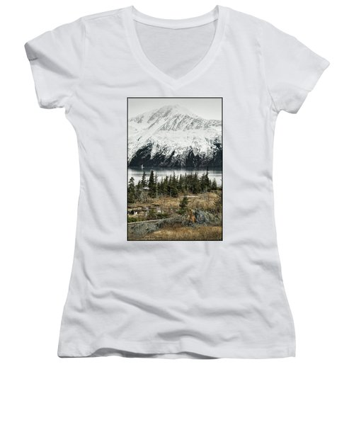Turnagain Arm  Women's V-Neck T-Shirt (Junior Cut)