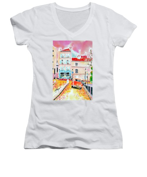 Twilight Montmartre Women's V-Neck