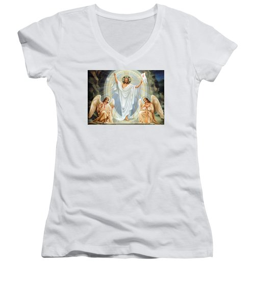 Two Angels Women's V-Neck (Athletic Fit)