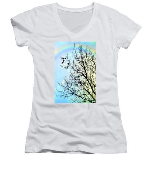Two For Joy Women's V-Neck T-Shirt